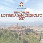 Lotteria San Crispolto 2017 –  Numeri Estratti